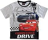 Cars Disney 3 T-Shirt Kurz Lightning McQueen Jungen (Grau, 92-98)
