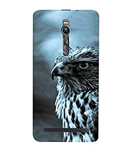 OWL, Black, Bird Pattern, Amazing Pattern, Printed Designer Back Case Cover for Asus Zenfone 2 ZE551ML