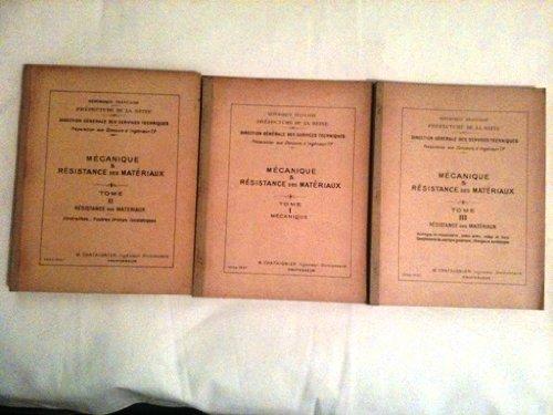 mecanique et resistance des materiaux (3 tomes)
