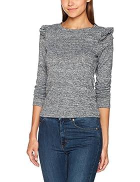Only Onlelcos L/S Frill Shoulder Top Noos, Camisa Manga Larga para Mujer
