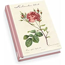 Redoutés Rosen Taschenkalender 2018 - Terminplaner mit Wochenkalendarium - Format 11,3 x 16,3 cm