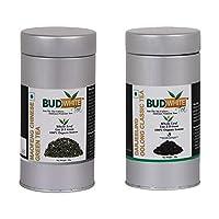 Budwhite Maofeng Chinese Green Tea & Darjeeling Oolong Classic Tea Combo - (50 grams Loose Tin)