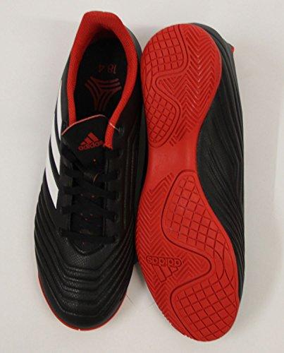 adidas Herren Predator Tango 18.4 In Futsalschuhe, Schwarz (Negbás/Ftwbla/Rojo 001), 42 2/3 EU