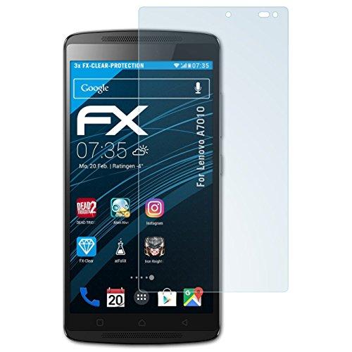 atFolix Schutzfolie kompatibel mit Lenovo A7010 Folie, ultraklare FX Bildschirmschutzfolie (3X)
