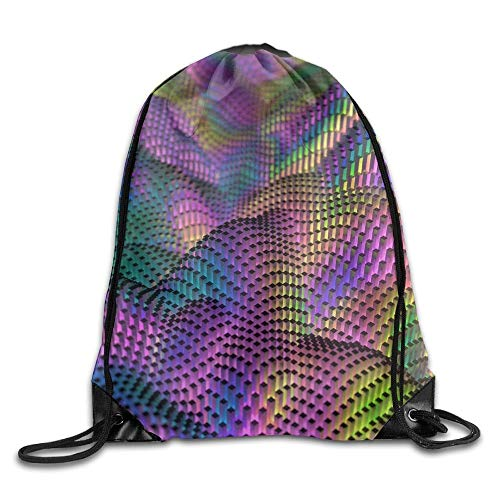 HLKPE Rainbow Abstract Figure Drawstring Bag for Traveling Or Shopping Casual Daypacks School Bags