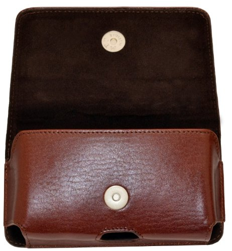 Original MTT Étui horizontal pour téléphone portable/iphone se/horizontal cuir étui avec clip et dragonne de sécurité marron