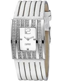 Esprit Damen-Armbanduhr Stella Lumina White Analog Quarz Leder ES101162701