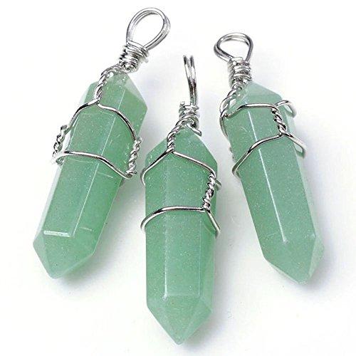 HARMONIZE® verde naturale Aventurine guarigione Point Chakra pendenti di collana per monili che