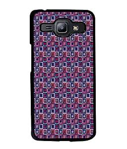FUSON Designer Back Case Cover for Samsung Galaxy J1 (2015) :: Samsung Galaxy J1 4G (2015) :: Samsung Galaxy J1 4G Duos :: Samsung Galaxy J1 J100F J100Fn J100H J100H/Dd J100H/Ds J100M J100Mu (Seamless Pattern Blue Design Drawing )
