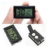 Livecity Mini Schwarz Digital LCD Innen Temperatur Luftfeuchtigkeit Meter Thermometer Hygrometer