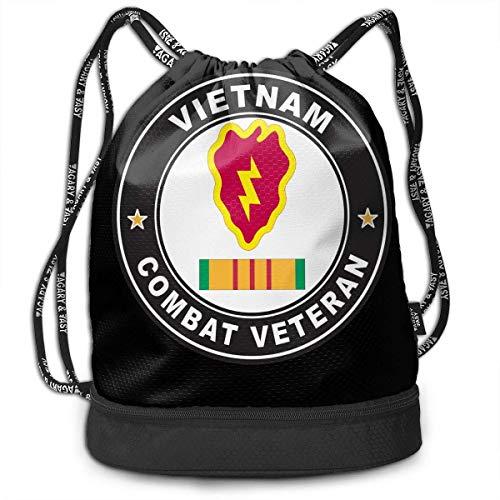 Rucksäcke,Sporttaschen,Turnbeutel,Daypacks, US Army 25th Infantry Division Vietnam Combat Veteran Bundle Backpack Funny Tote Bag (25th Infantry Division Vietnam)