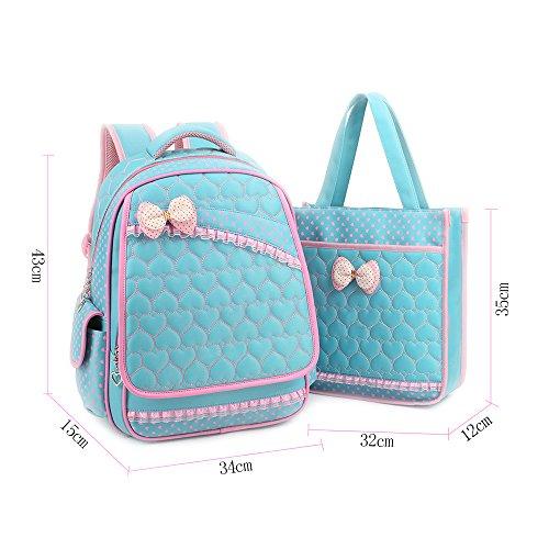 KINDOYO Jungen Mädchen Wasserdichte Rucksack für Kinder Unisex Schulrucksäcke Rucksack für Reisen, Wandern Blue-A