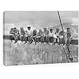 CUADRO LIENZO OBREROS EN NUEVA YORK ROCKEFELLER CENTER 1932 . Tamaño 50x70cm . Impreso en canvas de alta calidad .Tensado en bastidor de 2 cm de grosor. Acabado Satinado