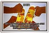 Blechschild Bier Spruch Beer 20 x 30 cm Reklame Retro Blech 1017