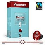 Gourmesso Messico Blend Forte (intensité 9) - 50 Capsules de Café compatibles Nespresso - Café équitable