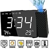 Best Proyectores pantalla de elección - Abwei Despertador Proyector Digital Proyección Relojes de Alarma Review