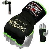 Be Smart Box-Handschuhe, Gel gepolstert, Innenhand-Wickel, MMA, UFC, Herren damen Kinder, grün, S