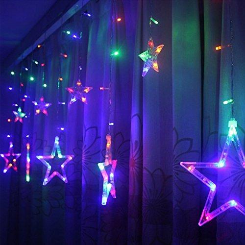 etoiles-lumieres-de-rideaux-12-etoiles-138-leds-diodes-guirlande-lumineuse-eclairage-decoration-pour