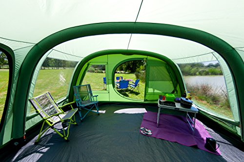 Coleman FastPitch Air Valdes Inflatable Tent, 6 Person – Green