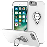 Funda para iPhone 6s con anillo Kickstand de ICONFLANG, 360 grados giratorio Ring Grip caso para el iPhone 6s doble capa de protección contra impactos de impacto Apple iPhone 6s /6 caso (iPhone 6s, Blanco)