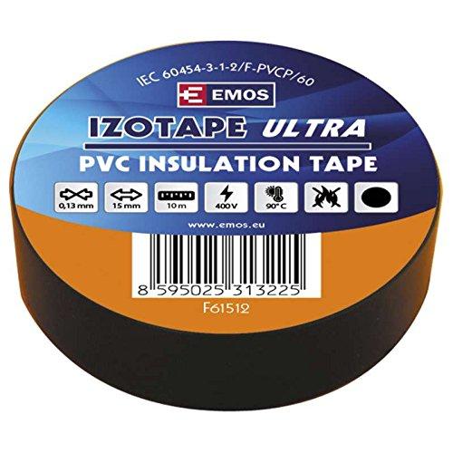 EMOS 15/10 CERNA Isolierband PVC 15 mm/10M Schwarz