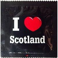I Luv LTD I Heart Scotland Neuheit Condom - 3er-Pack preisvergleich bei billige-tabletten.eu
