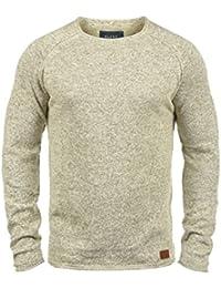 BLEND Dan Herren Strickpullover Rundhalskragen aus hochwertiger Baumwoll- Mischung Meliert