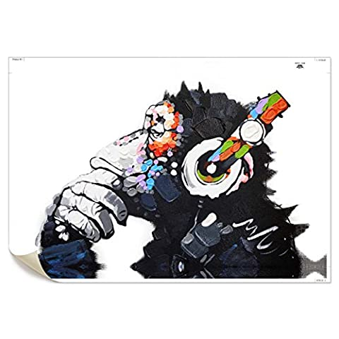 UNIQUEBELLA Abstract Color music Monkey painting printed on Canvas, Art