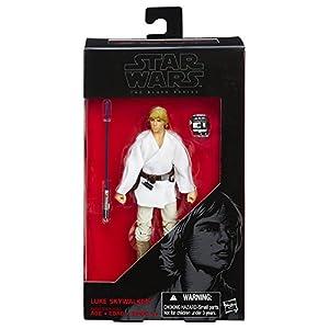 Hasbro Figura de Luke Skywalker de La Guerra de Las Galaxias: una Nueva Esperanza – The Black Series, 15,24 cm