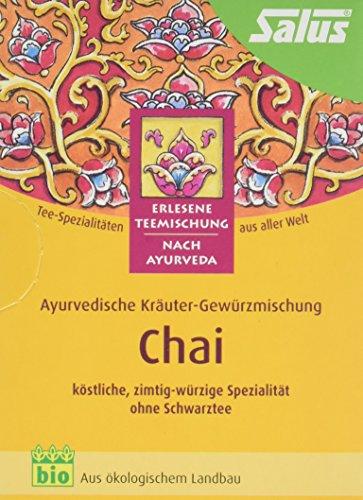 Salus Chai Ayurvedischer Kräuter-Gewürztee, 3er Pack (3 x 30 g) - Bio