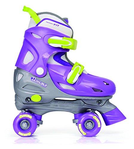 Chicago Girls Adjustable Quad Skate, Purple/Silver, Medium