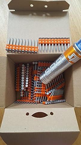 clou spit pulsa p800 + gaz - hc6 32 mm - boite de 500
