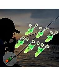 6x doble campanas mordedura con LUZ advertencia luminosa y sonar caña de pesca noche