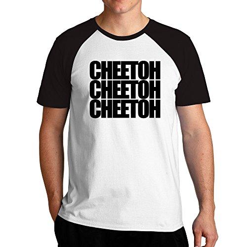 Eddany Cheetoh three words Raglan T-Shirt - Cheetoh Katzen