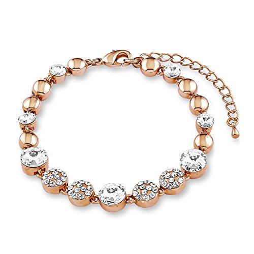 NOELANI Damen-Armband 18+3cm rosévergoldet veredelt mit Kristallen von Swarovski