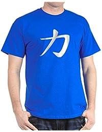 CafePress - Power - Kanji Symbol Dark T-Shirt - 100% Cotton T-Shirt
