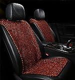 DIELIAN Autositz Holzkugel Sitzauflage Stuhl Massage Rückenstütze Lordosenstütze Mesh Lüften Kissen Pad Für Haus Und Auto,Brown