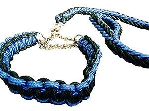 Das Set besteht aus einer robusten, aus Nylon geflochtenen, Leine mit Handschlaufe und einem bequemen Halsband mit Kette. Leine und Halsband sind mit einem Karabinerhaken verbunden, mit welchem man die Kette ganz einfach auf die Wunschgröße einstelle...