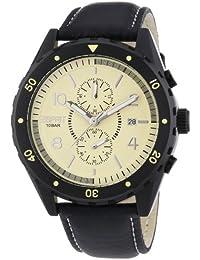 Esprit - ES105551002 - Alamo - Montre Homme - Quartz Chronographe - Cadran Beige - Bracelet Cuir Noir