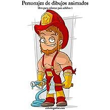 Personajes de dibujos animados libro para colorear para adultos 1: Volume 1