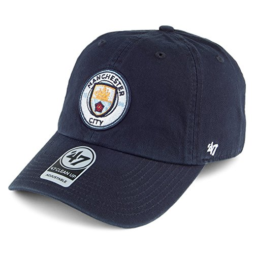 632b3bd01613a 47 Brand Manchester City FC Clean Up Baseball Cap – Navy Adjustable
