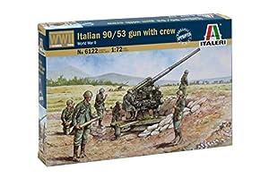 Italeri 6122S  - Segundo Primera La Primera Guerra Mundial Talian 90/53 Pistola con funcionarios