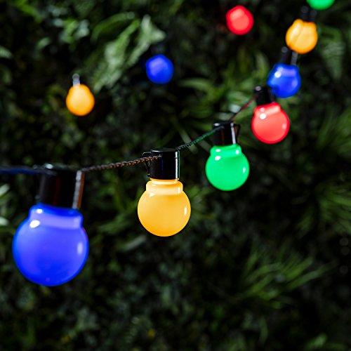 Guirlande Lumineuse Guinguette 30 Boules LED Multicolores pour Intérieur/Extérieur Lights4fun