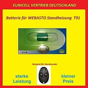 Pile pour la télécommande de wEBASTO télécommande t91 standheizung 3 v eUNICELL distribution allemagne