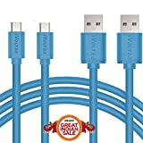 #5: iVoltaa Premium [ Pack of 2 Cables] 1 Meter Micro USB Cable High Speed USB 2.0 A Male to Micro B Sync & Charging 5 Core Cable for Samsung, Nokia ,HTC, Blackberry, Tablet PC, and Most Android Tablets, Android Phones, and Windows Phones, (1 Meter, Blue [ Pack of 2 Cables])