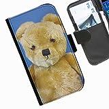 Hairyworm- Teddybären Seiten Leder-Schützhülle für das Handy Samsung Galaxy S5 Mini (SM-G800F, SM-G800A, SM-G800HQ, SM-G800H, SM-G800M, SM-G800R4, SM-G800Y)