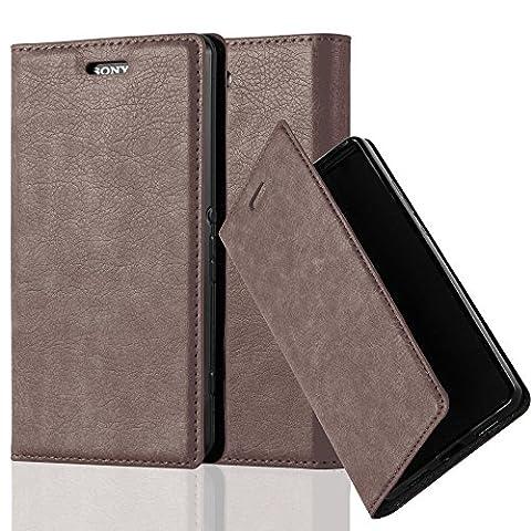 Cadorabo - Book Style Schutz-Hülle mit Standfunktion für Sony Xperia Z3 COMPACT / MINI mit unsichtbarem Magnet-Verschluss - Case Cover Schutzhülle Etui Tasche mit Kartenfach in