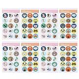 Toyvian Etichetta Adesiva Rotonda da 40 Fogli di Carta Autoadesiva Rotonda Cartone Animato Animale Etichette Fai da Te Borsa Regalo Artigianale per La Festa di Compleanno