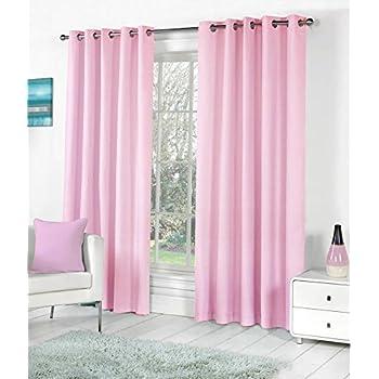 Bhatias Set Of 2pc Premium Solid Fancy Elegant Ringtop Plain Polyester Eyelet 7ft Door Curtains