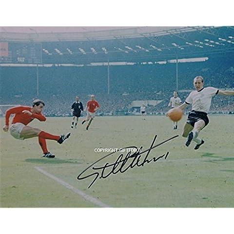Edizione limitata di Geoff Hurst Inghilterra 1966firmato foto + certificato di calcio stampato Edizione Limitata, Con Autografo